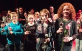 Vier Goorse meiden zingen tijdens Hofpopvoices