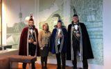Prins Henri met collegae bij burgemeester Nauta
