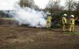 Snoeihout vat vlam in buitengebied