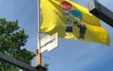 Schoolfeestvlag in top bij 't Kukelnest