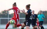Hilhorst in actie met FC Twente Vrouwen in Goor