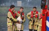 Brandweer redt opnieuw ree uit kanaal