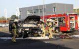 Auto in brand bij ZTD Truckwash