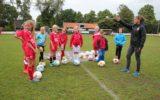 Clinic van FC Twente Vrouwen bij 'Club van de maand' GFC
