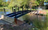 Nieuwe bruggen over vijver Kevelhammerhoek