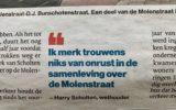 Ergernis over uitspraken wethouder over Molenstraat