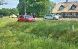 Auto verliest wiel na ongeluk