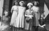 Communie in 1941 van de zusjes Overbeek