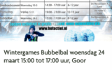 Bubbelbal op Winter Games