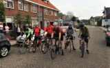 Bartjan onderweg voor zijn 999 kilometer op de fiets